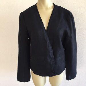Ann Taylor LOFT Linen Jacket size Large!